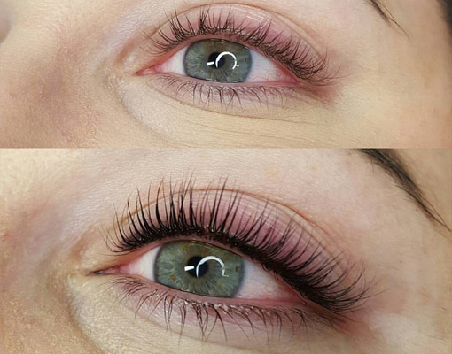 Wimperextensions: Wimperlifting