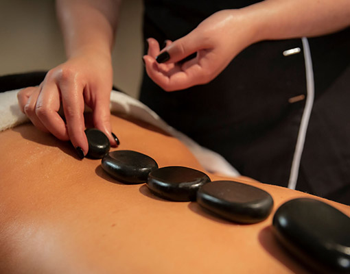Hot-stone massage